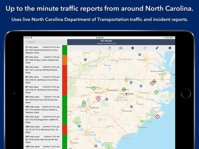 North Carolina Roads Traffic On The App Store