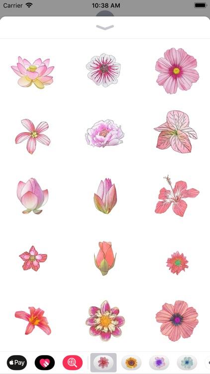 Pink Flower Sticker Pack