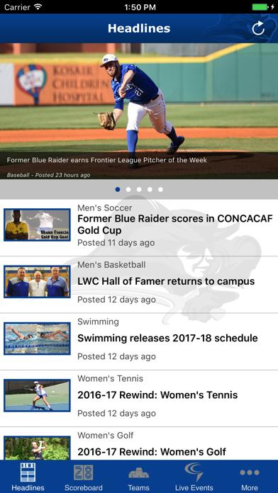 Lindsey Wilson Blue Raiders screenshot two