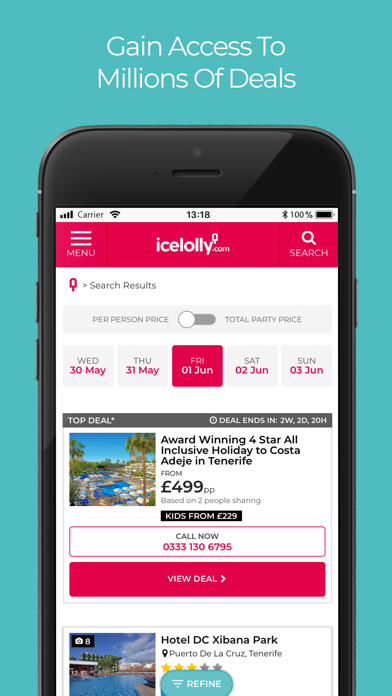 icelolly.com Holiday Finder screenshot two