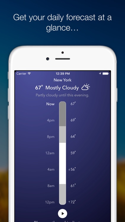 WeatherTunes - Weather based music & forecasting screenshot-0