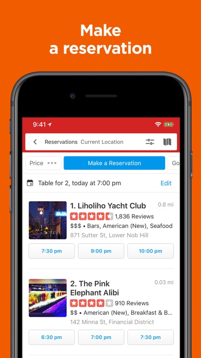 Screenshot for Yelp-Food & Services Around Me in United States App Store