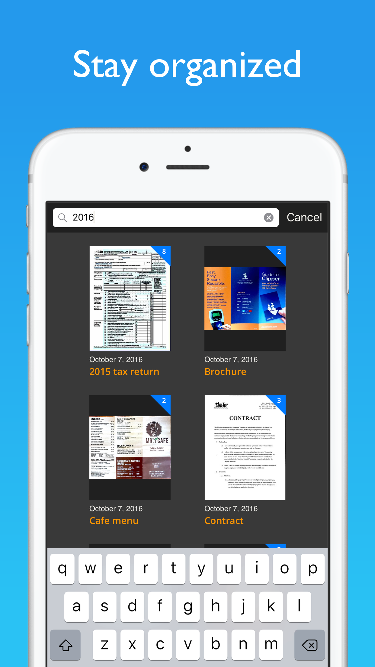 JotNot Scanner App Screenshot