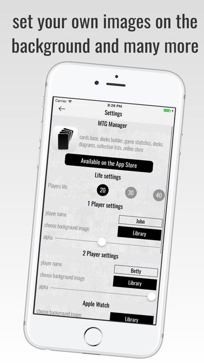 MTG Life Counter with history screenshot-3
