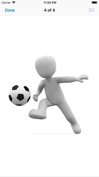 Human and Football Stickers screenshot-6
