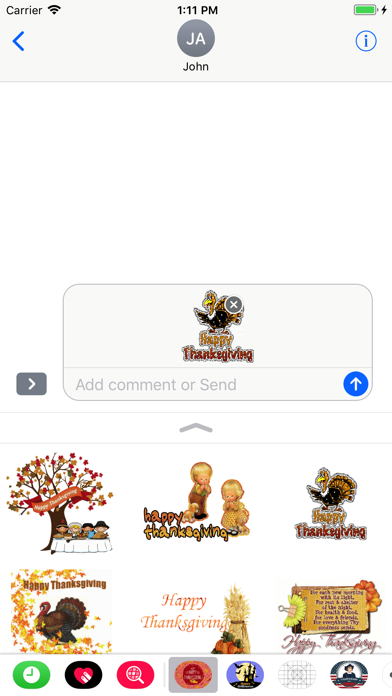 Thanksgiving Day GIF Stickers screenshot four