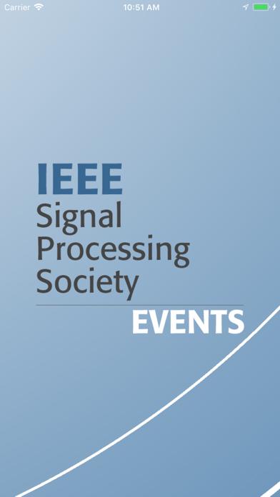 IEEE SPS Events screenshot one