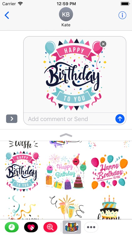 Happy Birthday Stickers 2018 screenshot-0