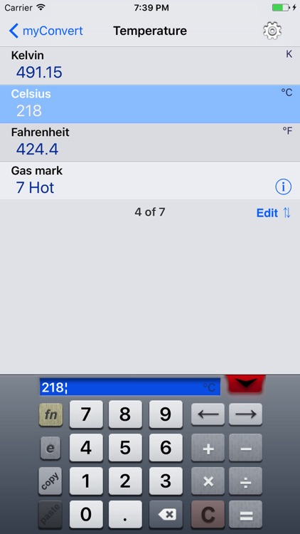 myConvert Lite - unit converter screenshot-3