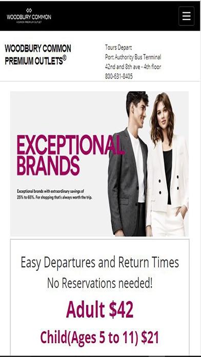 WoodburyCommon Premium Outlets Screenshot