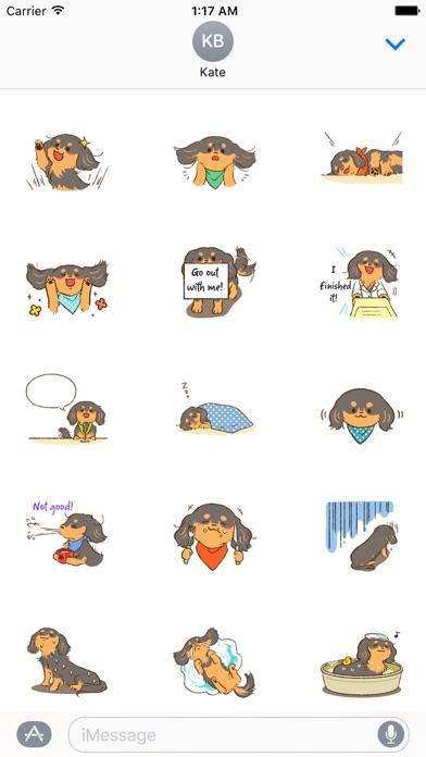 Cute Dachshund Dog Sticker screenshot 2