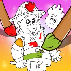 A Firefighter Coloring Book for Children: Learn to Color Firemen and ...
