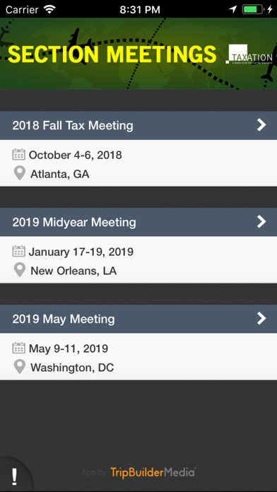 ABA Tax Events-1