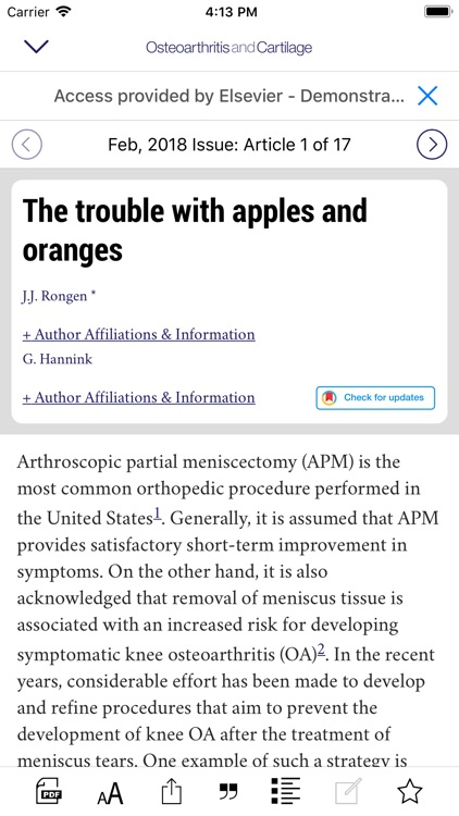 Osteoarthritis and Cartilage screenshot-4