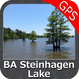 B A Steinhagen Texas GPS fishing map offline