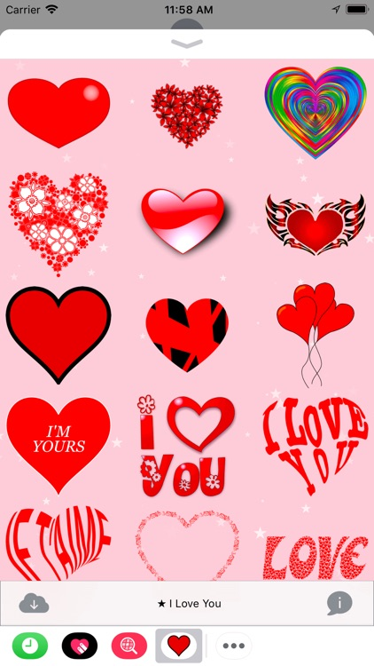 I Love You • 100 stickers