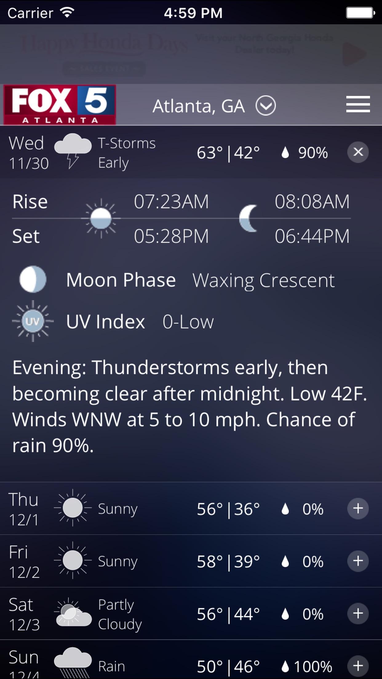FOX 5 Storm Team Screenshot