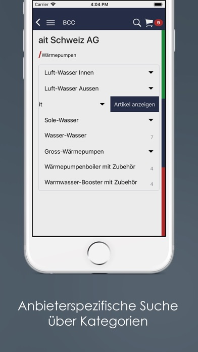 Screenshot of Cloud Catalog App