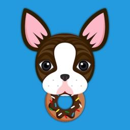 Brindle Boston Terrier Emoji