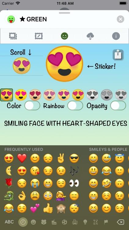 GREEN Emoji • Stickers screenshot-4