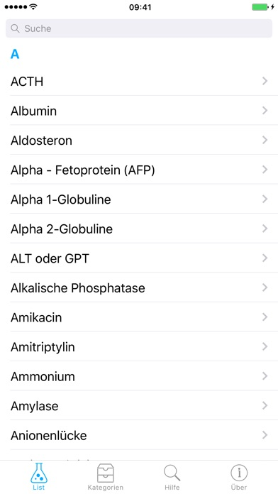 Screenshot for Laborwerte in Germany App Store