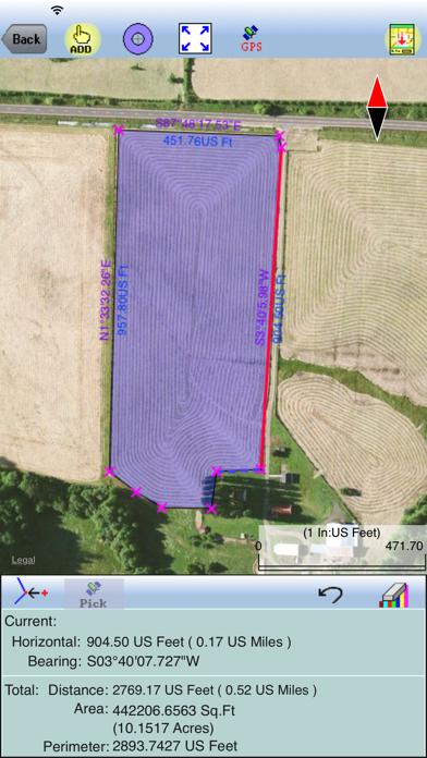 Deed Calls - Area - Perimeter screenshot four