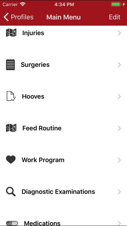 Horse Medical Agenda