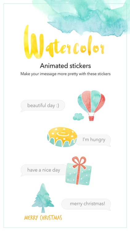 Watercolor - Animated stickers