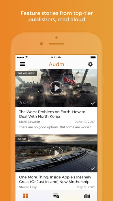 Audm - The Atlantic, WIRED app image