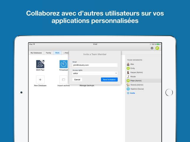Ninox database for ipad dans l app store for Application construire sa maison ipad