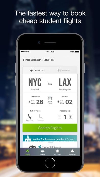 Download Flights by StudentUniverse for Android