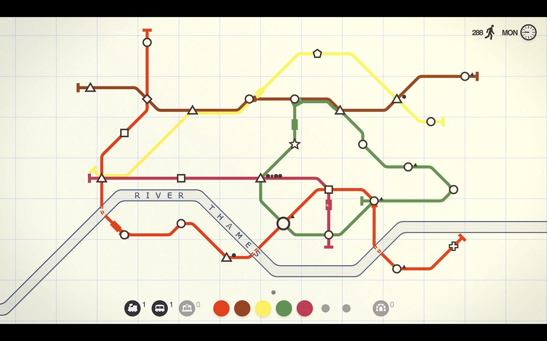 Screenshot do app Mini Metro