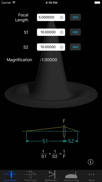 OpticsCalc screenshot one
