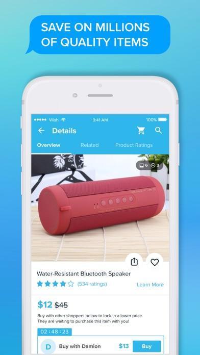 Screenshot of Wish - Shopping Made Fun App