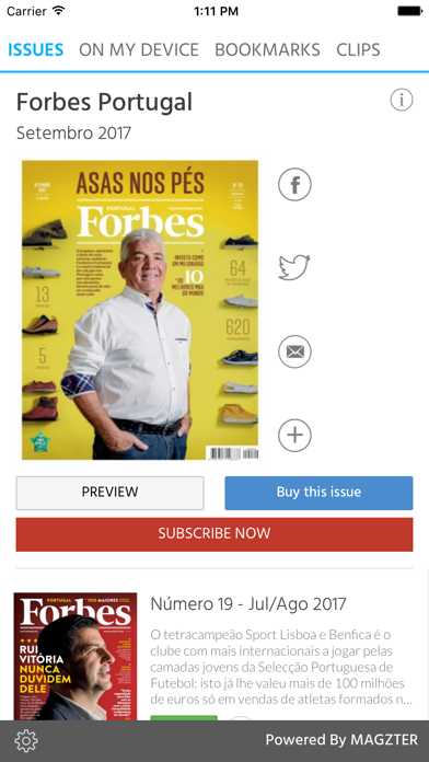 Forbes Portugal screenshot one