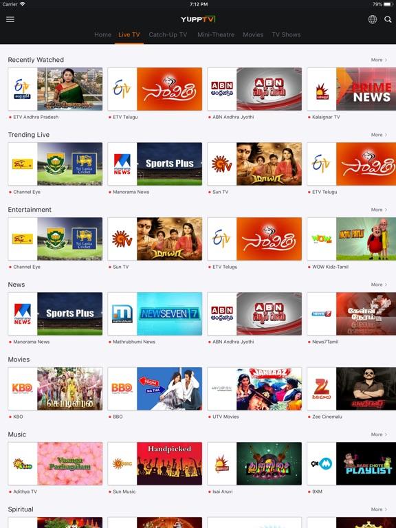 YuppTV - Live TV & Movies - AppRecs