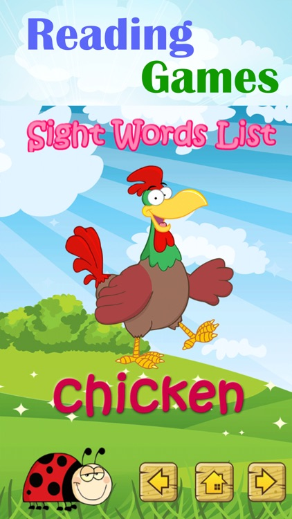 First Reading Sight Word Games