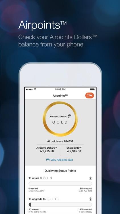 Air NZ mobile app screenshot-3