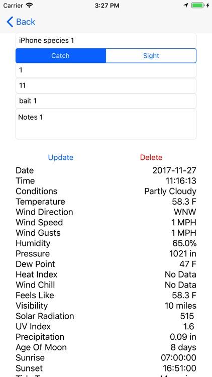 Fish Log - Data App