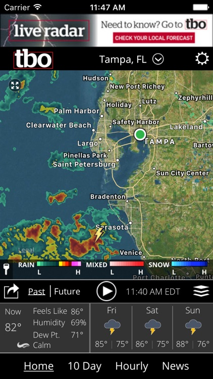 Tampa Bay weather from tbo