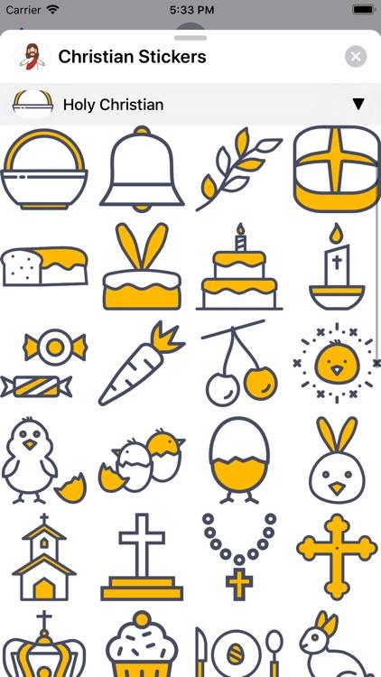 Christian Stickers App screenshot-7