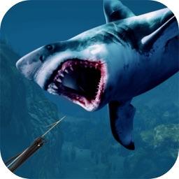 Under Water Angry Shark Huntin