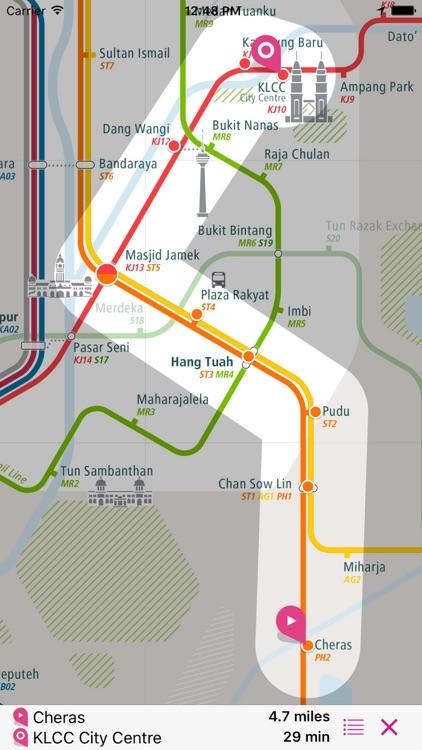 Kuala Lumpur Rail Map