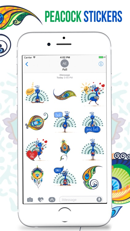Peacock Stickers