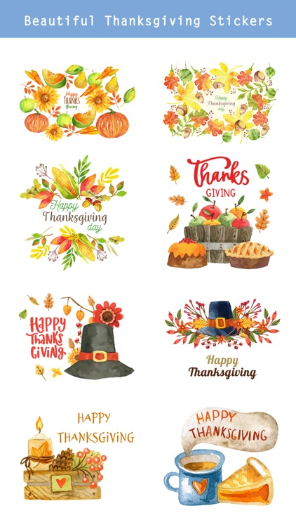 Thanksgiving Watercolor Pack screenshot-1