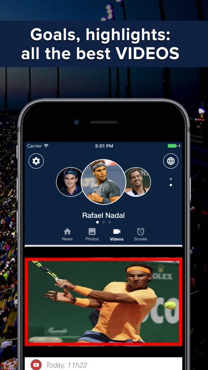 Tennis Addict : highlights, scores