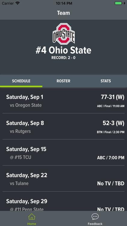 Ohio State Football 2018