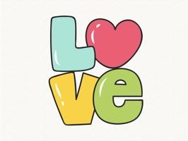 Doodle Valentine's Day Sticker
