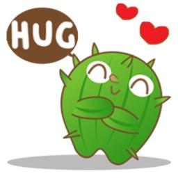 Adorable Cactus Emoji Stickers Pack