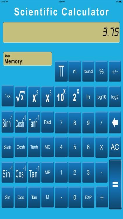 Scientific Calculator Easy screenshot-3